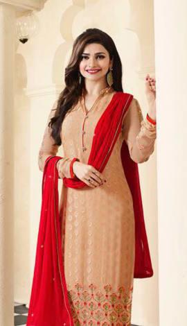 Light Orange Georgette Salwar Kameez