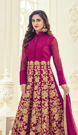Pink Banglori Silk Salwar Kameez