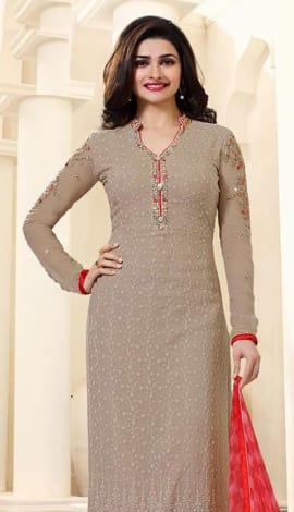 Light Gray Georttee Salwar Kameez