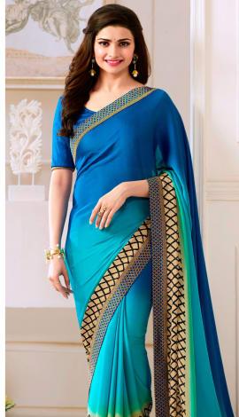 Multi Blue Silk Saree