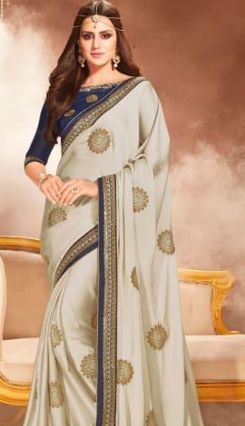 Gray Silk Saree