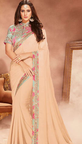 Light Cream Silk Saree