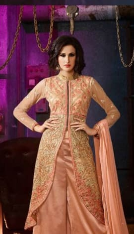 Orange Georgette Salwar Kameez