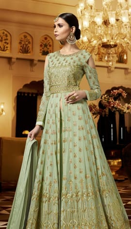 Mint Green Georgette Salwar Kameez