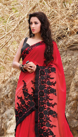 Red Red Saree