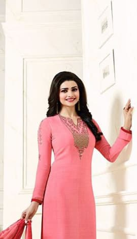 Light Pink Crape Salwar Kameez