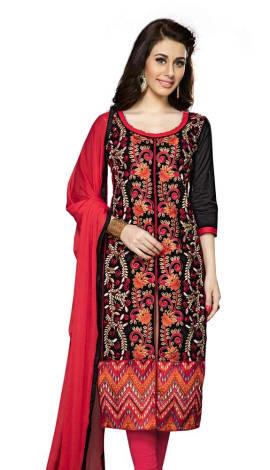 BlackRani Pink Cambric Cotton Salwar Kameez