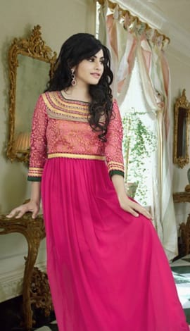Rani Pink Georgette Gowns