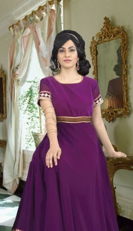Purple Georgette Gowns
