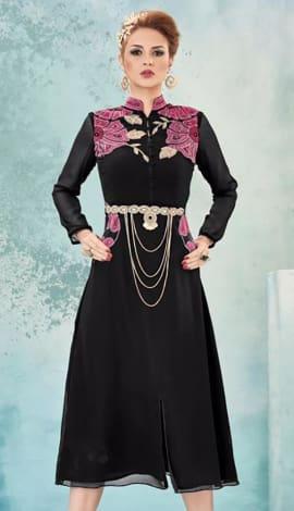 Black Georgette Kurti