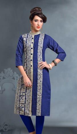 Blue Igatpuri Silk Kurti