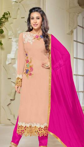 Light Pink Georgette Salwar Kameez