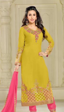 Deep Yellow Georgette Salwar Kameez