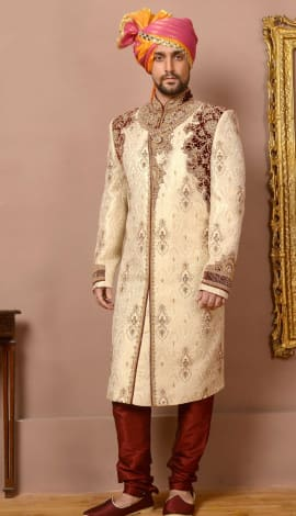 Fawn Jaqurd Silk Brocade Men