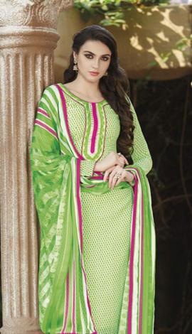 Light Green Bhagalpuri Printed Salwar Kameez