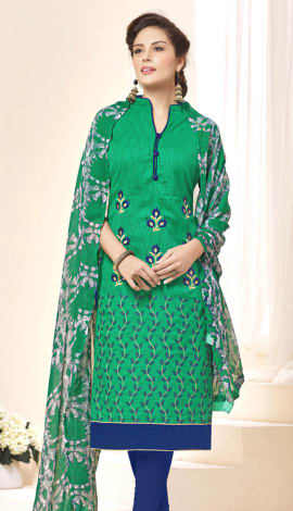 Green Brasso Salwar Kameez