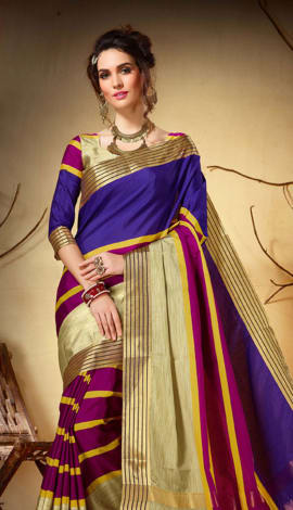 Multi Cotton Silk Saree