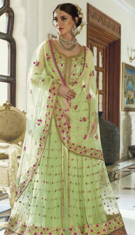 Green Net Salwar Kameez
