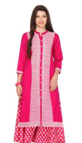 Pink Flex (Cotton Blend) Kurti