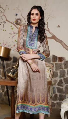 Multi Color Gajji Silk Kurti
