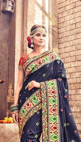Royal Blue Banarasi Pure Silk Saree