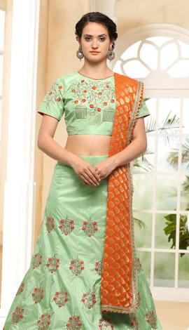 Chiku Silk Lehenga