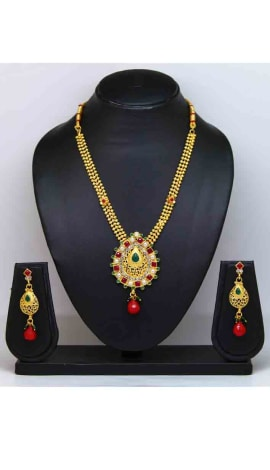 Multi Pearl And Gold Finishing Jewellery
