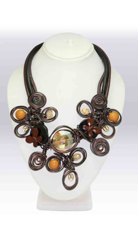 Multi Imported Stone And Wire Jewellery