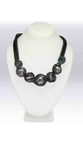 Black Imported Stone Jewellery