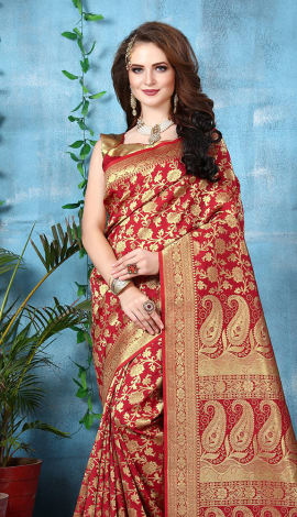 1495 Banarasi Silk Saree
