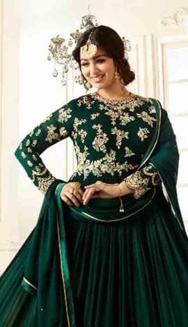 Green Georgette Salwar Kameez