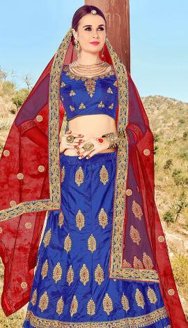 Royal Blue Art Silk Lehenga