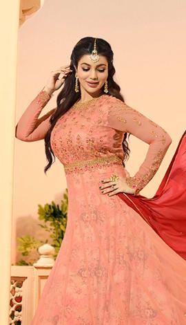 Baby Pink Georgette Salwar Kameez