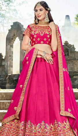 Rani Pink Soft Silk Lehenga