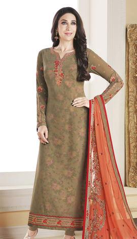 Light Brown Georgette Salwar Kameez