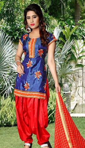 Neavy Blue Tapeta Silk Salwar Kameez