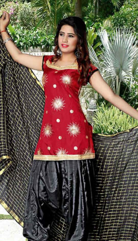 Maroon Tapeta Silk Salwar Kameez