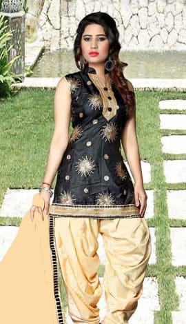 Black Tapeta Silk Salwar Kameez