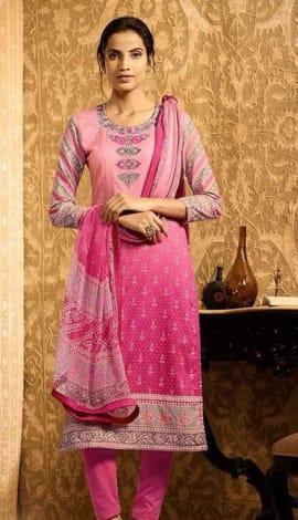 Pink Lawn Cotton Salwar Kameez