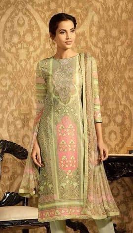 Light Green Lawn Cotton Salwar Kameez