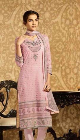 Light Pink Lawn Cotton Salwar Kameez