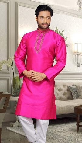 Pink Dupion Men