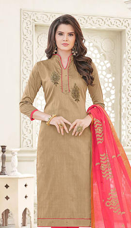 Brown Banglori Cotton Salwar Kameez