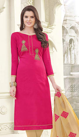 Pink Banglori Cotton Salwar Kameez