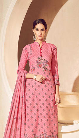 Pink Pure Lawn Cotton With Pure Digital Print Salwar Kameez