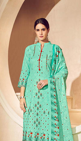 Green Pure Lawn Cotton With Pure Digital Print Salwar Kameez