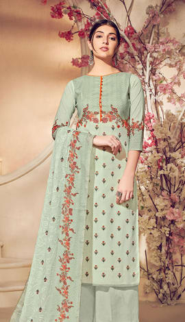 Light Green Pure Lawn Cotton With Pure Digital Print Salwar Kameez