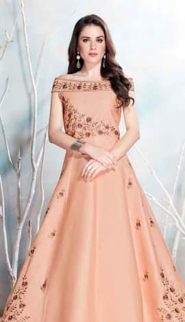 Light Tan Modal Satin-(Pure Feb) Gowns
