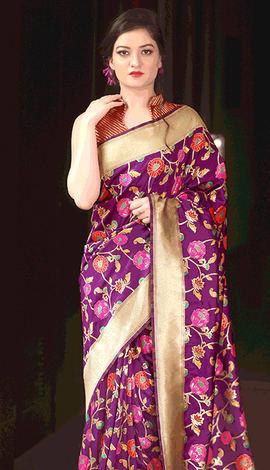 Magenta Kanchivaram Silk Saree