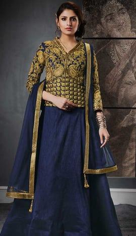 Gold Silk , Jacquard Lehenga
